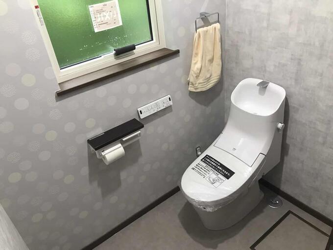 広いゆったりしたトイレにリフォーム